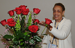 Goldie Brangman presented with flowers at the 2009 AANA Annual Meeting in San Diego